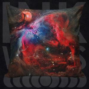 Galaxy Pillow Throw Pillow Nebula