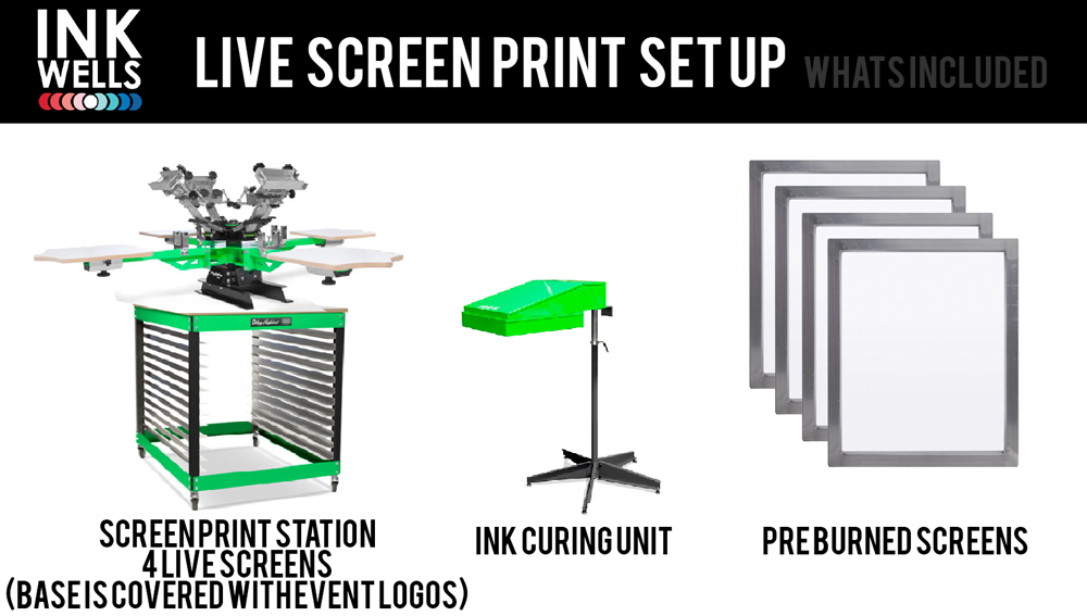 Live Screen Print Equipment