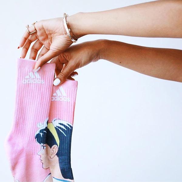 Custom Socks Live Printing | Ink Wells