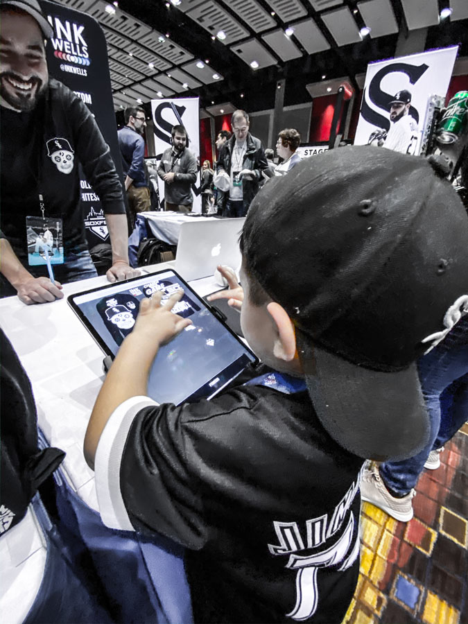 Live On Site Design technology with Chicago White Sox | Ink Wells