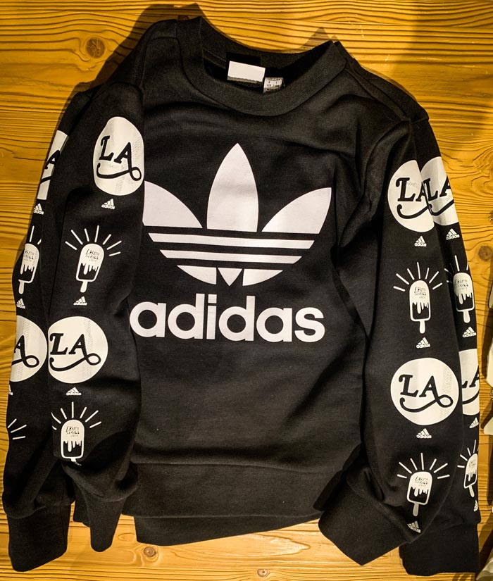 Live Event Shirt Printing with adidas in retail store